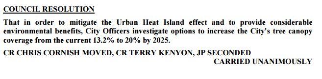 Urban Heat Island vote