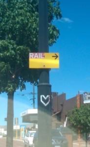 Rail sign